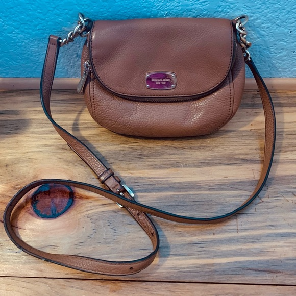 Michael Kors Leather Bedford Flap Crossbody Bag
